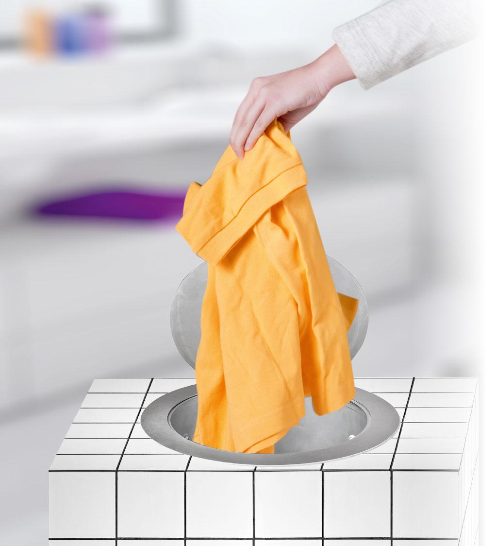 Der Wäscheabwurf ist eine clevere Haushaltshilfe.
