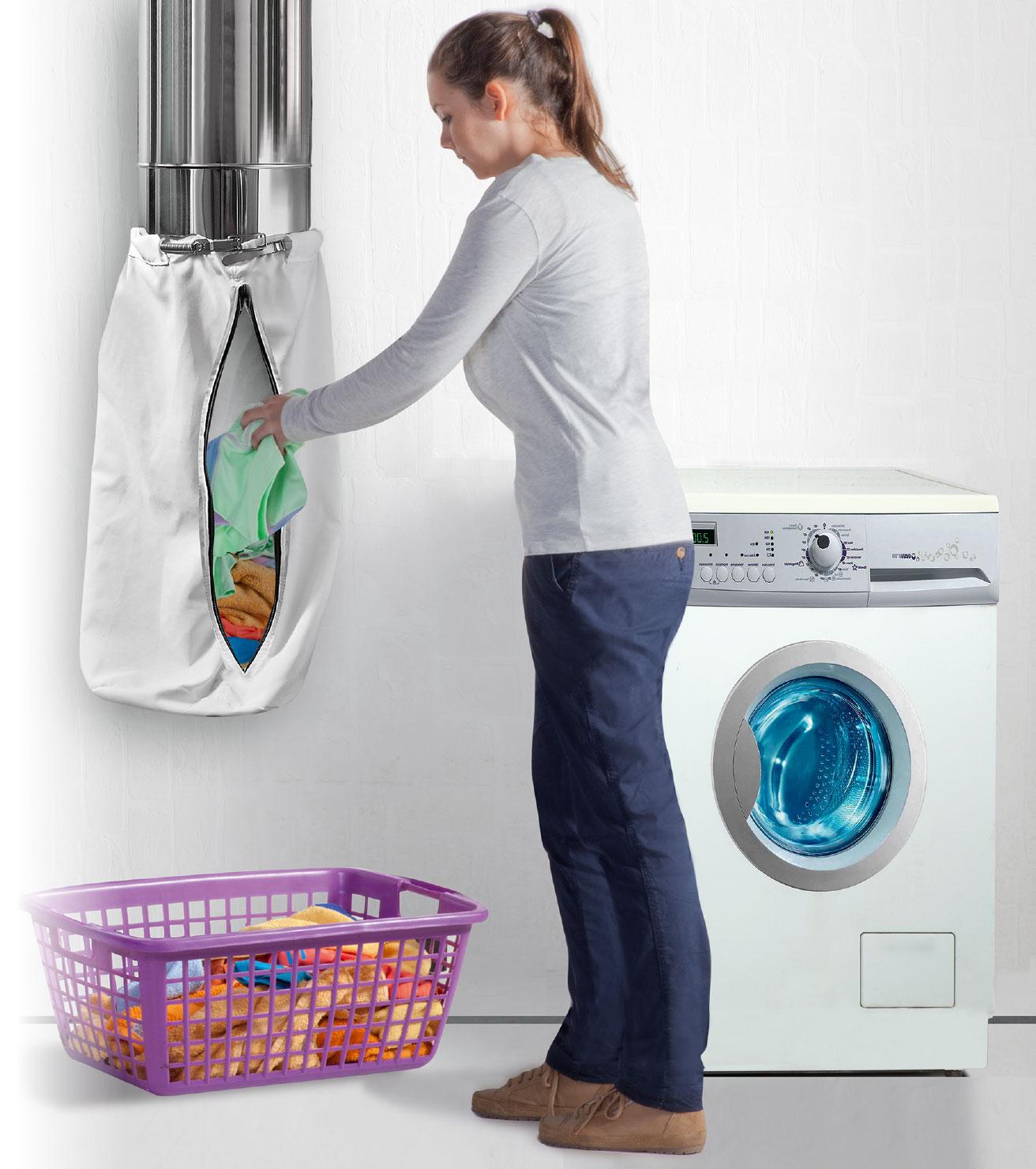 Ein Wäscheabwurf erleichtert die Hausarbeit.