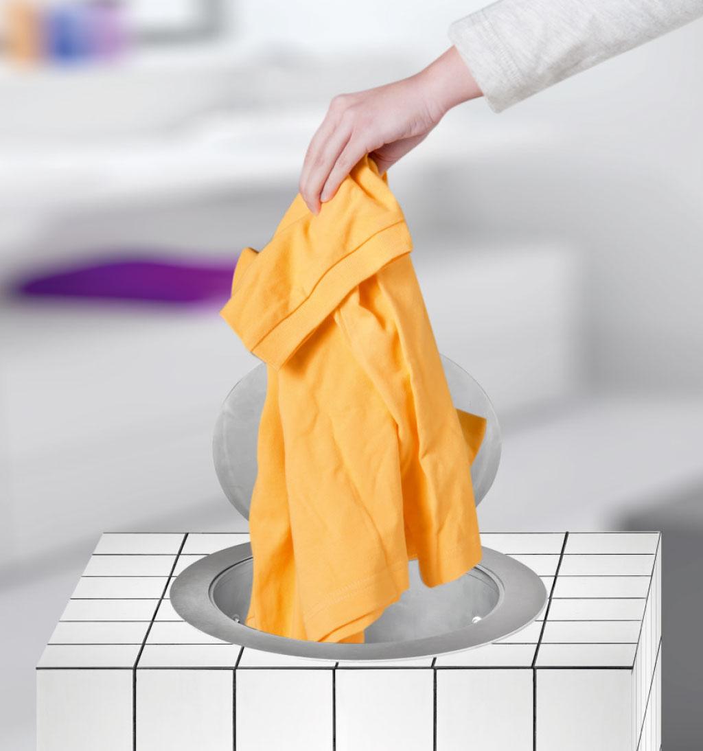 Wäscheabwurf mit Podestlösung